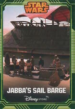 Star Wars Disney Store Exclusive Jabba's Sail Barge Trading Card FREE SHIPPING