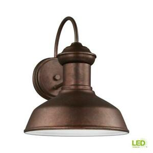 Fredricksburg Weathered Copper Outdoor 11.9375 in. Integrated LED Wall Mount