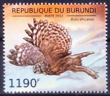 Burundi 2012 MNH, Birds of Prey, Owls, Spotted Eagle-Owl Bubo africanus