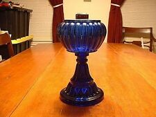 Antique EAPG Victorian Cobalt Oil Lamp