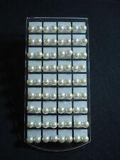 stock 36 coppie mini orecchini perla bianca 10 mm micro bigiotteria lotto