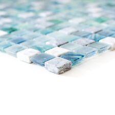 Glas Stein Mosaik Avantgarde Quadrat türkis mix XCR 1501 Bogen 295x295x6mm