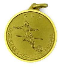 MEDAILLE SPORT FOOTBALL FFF FEDERATION FRANCAISE DE FOOTBALL DISTRICT HERAULT