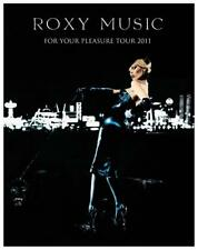 Roxy Music - POSTER - For Your Pleasure 2011 Tour - Brian Ferry Manzanera Mackay
