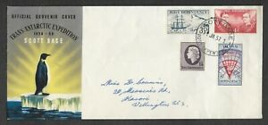 1957 Ross Dependency #L1-4 FDC ~ Trans Antarctic Expedition cover