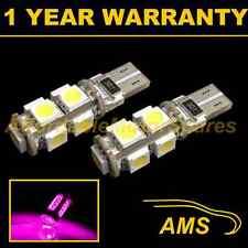 2X W5W T10 501 CANBUS SENZA ERRORI Rosa 9 LED sidelight lampadine laterali SL101705
