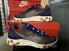 "Mens NIKE React Element 87 ""Dusty Peach"" Grey Running Shoes AQ1090-200"
