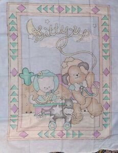 Daisy Kingdom 1992 Bronco Buddies Baby Quilt Panel Wall Hanging 36x44 Cowboy