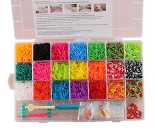 4200 Colourful Rainbow Rubber Loom Bands Bracelet Making Kit  - toys master 12