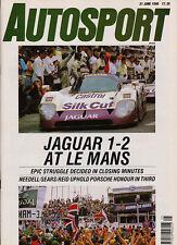 Autosport 21 Jun 1990 - Le Mans 24 Hours Silk Cut Jaguars, Nurburgring 24 Hours