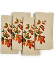 Bardwil Linens Harvest Thanksgiving / Fall Napkins Set of 4 New
