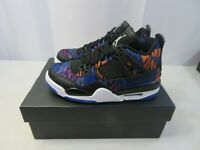 Air Jordan Retro 4 SE Size 4Y Black White Rush Violet GS BQ9043 005 New