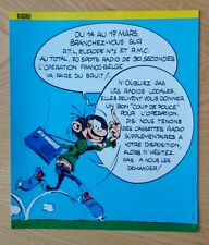 Publicité Gaston Lagaffe Franquin Opération Franco-Belge 1985
