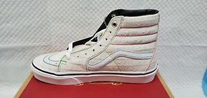 Vans SK8-HI Emboss Logo White True White Skate Shoes Men's 5 Women's 6.5