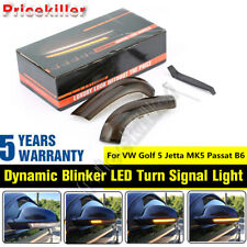 Dynamic Blinker Mirror LED Turn Signal Light For VW Golf 5 Jetta MK5 Passat B6 @