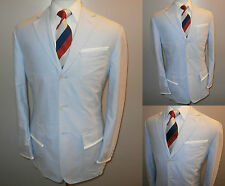 MENS MEDIUM BLUE BOATING REGATTA COLLEGE ROWING BLAZER SUIT JACKET SPORT COAT