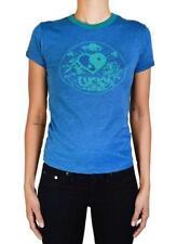 lucky brand blue tee t shirt top lucky YING YANG heart size S NWT originally $35