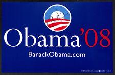 SIGNED AUTOGRAPHED PRESIDENT BARACK OBAMA 2008 CAMPAIGN SIGN POSTER BECKETT BAS