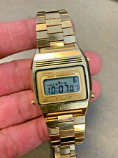 EXCELLENT VINTAGE 1981 SEIKO A639-5009 LCD CHRONOGRAPH WATCH - FULLY WORKING