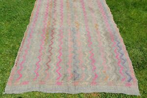 Decorative Bohemian Kilim Rug, Tapis Berber, Oriental Rug, Antique Rug, Kilim Ru