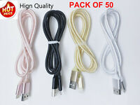 50 PACK 3Ft Charger Cable Usb Charger Cord For iPhone 6 7 8 Wholesale Lot Bulk