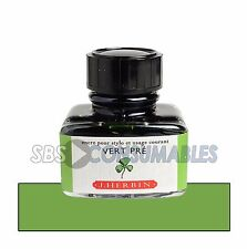 "J. Herbin 30 ml botella de ""Vert Pré"" luz verde 13031 T de tinta de pluma estilográfica"