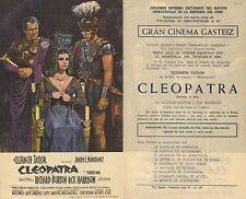 Programa de CINE. Título película: CLEOPATRA.