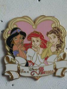 DISNEY PIN...WDW Lanyard Starter Princess.. JASMINE, ARIEL, BELLE.