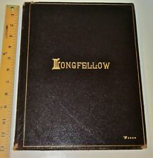 Leather Works of LONGFELLOW! FOLIO-SIZED SET! ILLUSTRATED PLATES! Complete RARE!