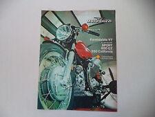 advertising Pubblicità 1973 MOTO GUZZI V7 V 7 SPORT/850 GT/CALIFORNIA