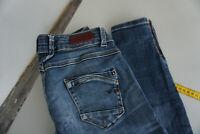 LTB 50679 slim stretch Jeans Low rise Hose 7/8 W26 L28 destroyed used blau ad4