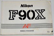 MODE D'EMPLOI NIKON F90X ORIGINAL EN FRANÇAIS