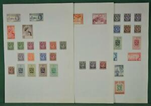ST. LUCIA STAMPS SELECTION ON 3 ALBUM PAGES H/M  (F82)