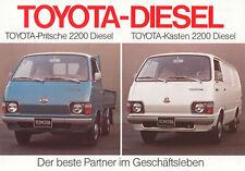 2x TOYOTA LITE ACE 1300 Kastenwagen Bus Lieferwagen Prospekt Brochure 34/19