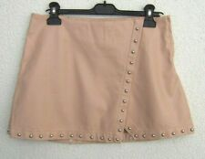 Forever21 Mini Skirt Faux Leather Rivets Size M