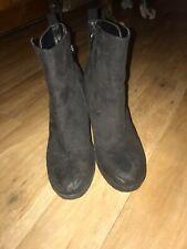 Primark Black High Heel Ankle Boots 6