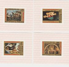 A29 NIGER 1983 PAINTINGS RAPHAEL  4X   DELUXE  PROOFS MNH