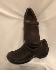 BOC Born Brown  Womens Size 10 Clogs Peggy Leather Comfort Nurse Shoes