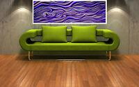 """Print  purple haze landscape australia painting canvas landscape art 36""""x12"""""""