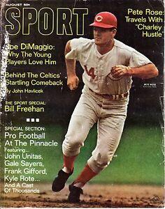 1968 (Aug.) Sport Magazine,Baseball, Pete Rose, Cincinnati Reds ~No Label~ POOR