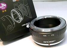 K&f Concept Lente Anello Adattatore Nikon Ai-s F Supporto per Fuji FX x Camera