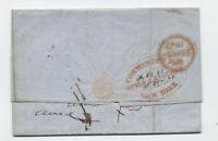 1847 Meyer & Stucken forwarder on NY to London transatlantic stampless [5246.321