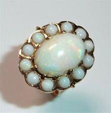 Ring 585 / 14 K ca. 5,50 ct Voll-Opal Australien 6,2 g Gr. 55 imposant