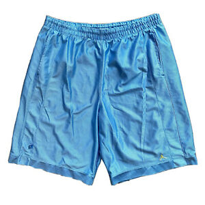 GUC Nike Air Jordan Basketball Shorts Blue Men's Sz XL Yellow Logo