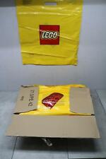 "Lot 100x Lego Plastic Shopping Bag 19"" x 17"" Large Yellow Medium Brick Toystore"