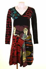 DESIGUAL Womens A-Line Dress Size 10 Small Black Cotton  DN30