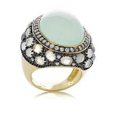 Rarities Carol Brodie Vermeil Aqua Chalcedony and Gemstone Band Ring Size 7 HSN