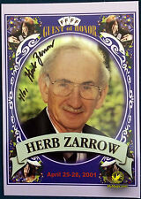Autographed Herb Zarrow Commemorative FFFF Postcard