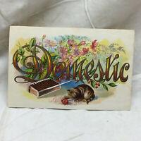 Vintage Domestic Maduro Cigar Label Kitten Flower Design