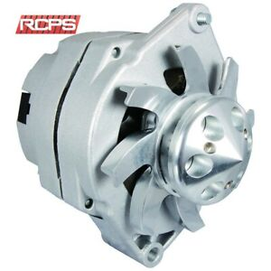 NEW ALTERNATOR FOR BBC SBC CHEVY 110 AMP HO ONE WIRE BILLET FAN PULLEY